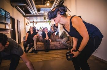 Level Up Gent Virtual Reality Gent teambuilding verjaardag plank experience